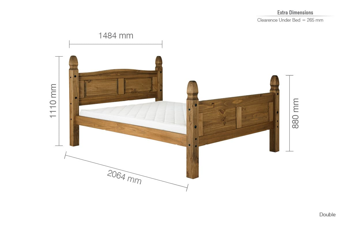 Solid Pine Corona High End Bed Frame Birlea Trade Furniture Supplier