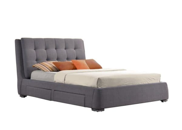 Mayfair 4 Drawer Bed in Grey Fabric
