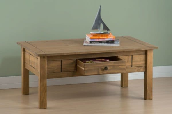 Santiago 1 Drawer Coffee Table-3288
