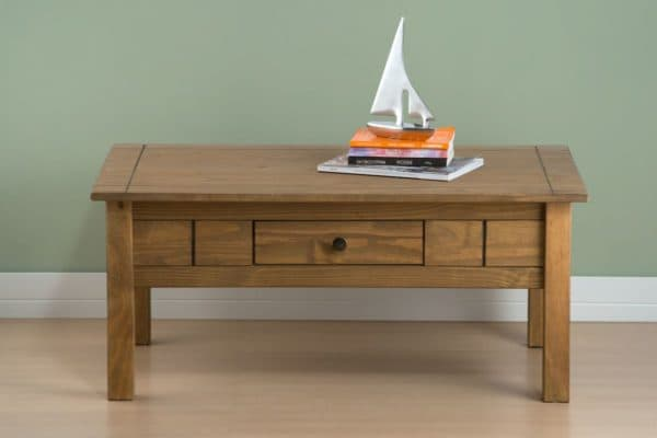 Santiago 1 Drawer Coffee Table-3287