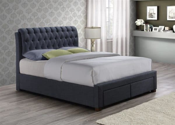 Valentino 2 Drawer Bed-7644