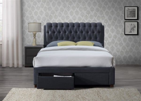 Valentino 2 Drawer Bed-7649
