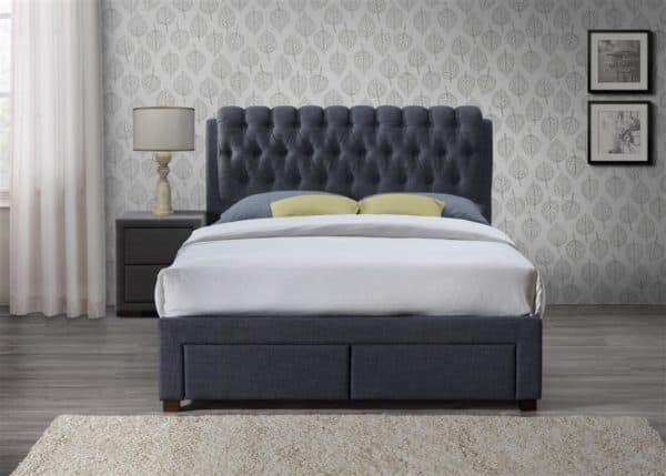 Valentino 2 Drawer Bed-7651