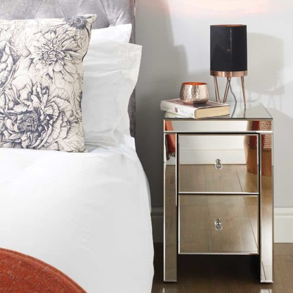 Seville 2 Drawer Bedside -6987