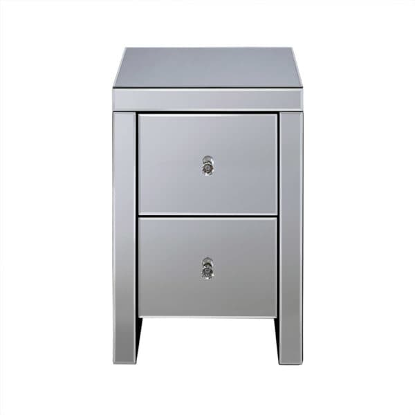 Seville 2 Drawer Bedside -6986
