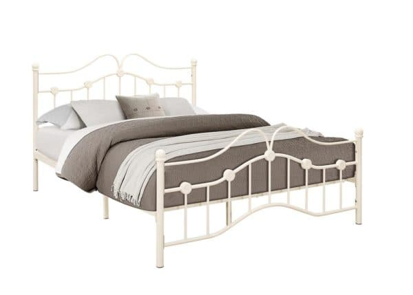 Traditional Canterbury Metal Bed Frame in Cream